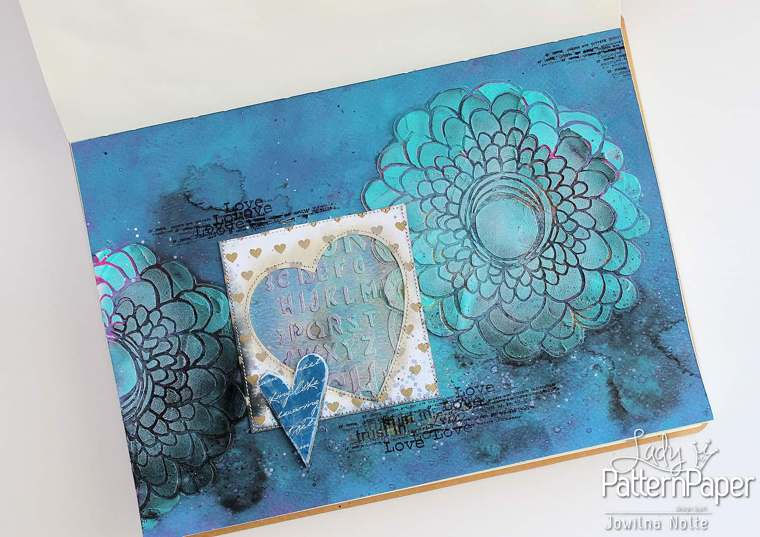 Trust In Love Art Journal Page - Dazzling Blue Script