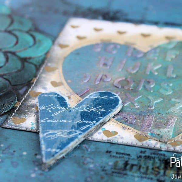Trust In Love Art Journal Page - Embossed Detail