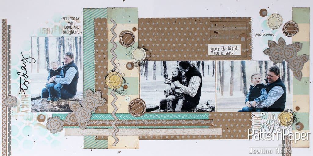 kraft essentials metallic silver - today layout