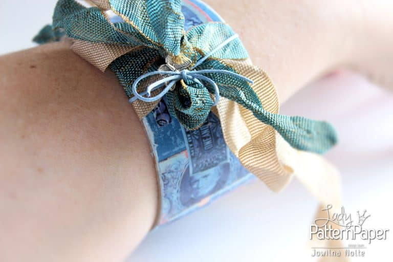 Dazzling Blue Paper - Bangle Upcycled