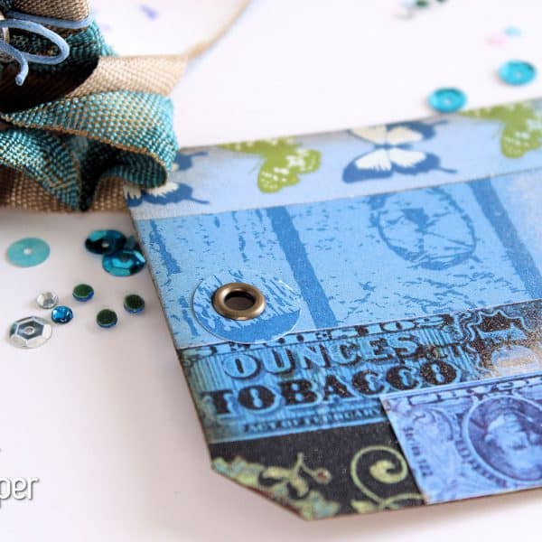 Dazzling Blue Paper - Tag - Eyelet