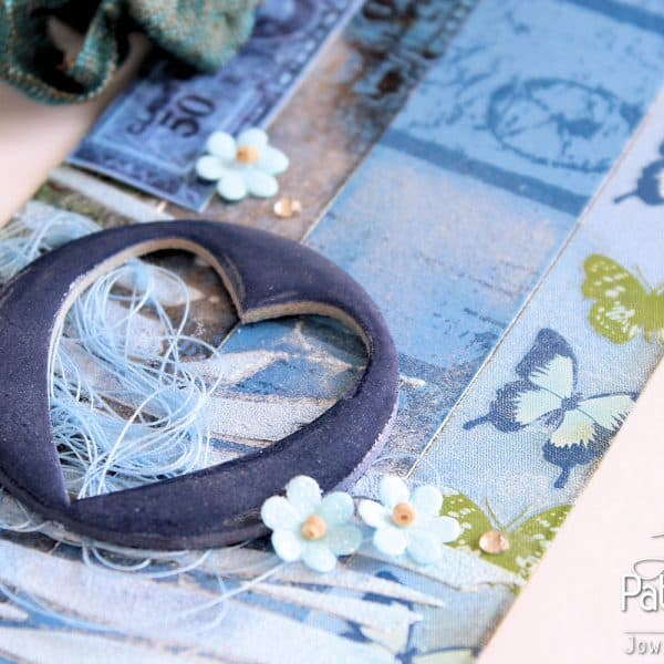 Dazzling Blue Paper - Tag - Heart