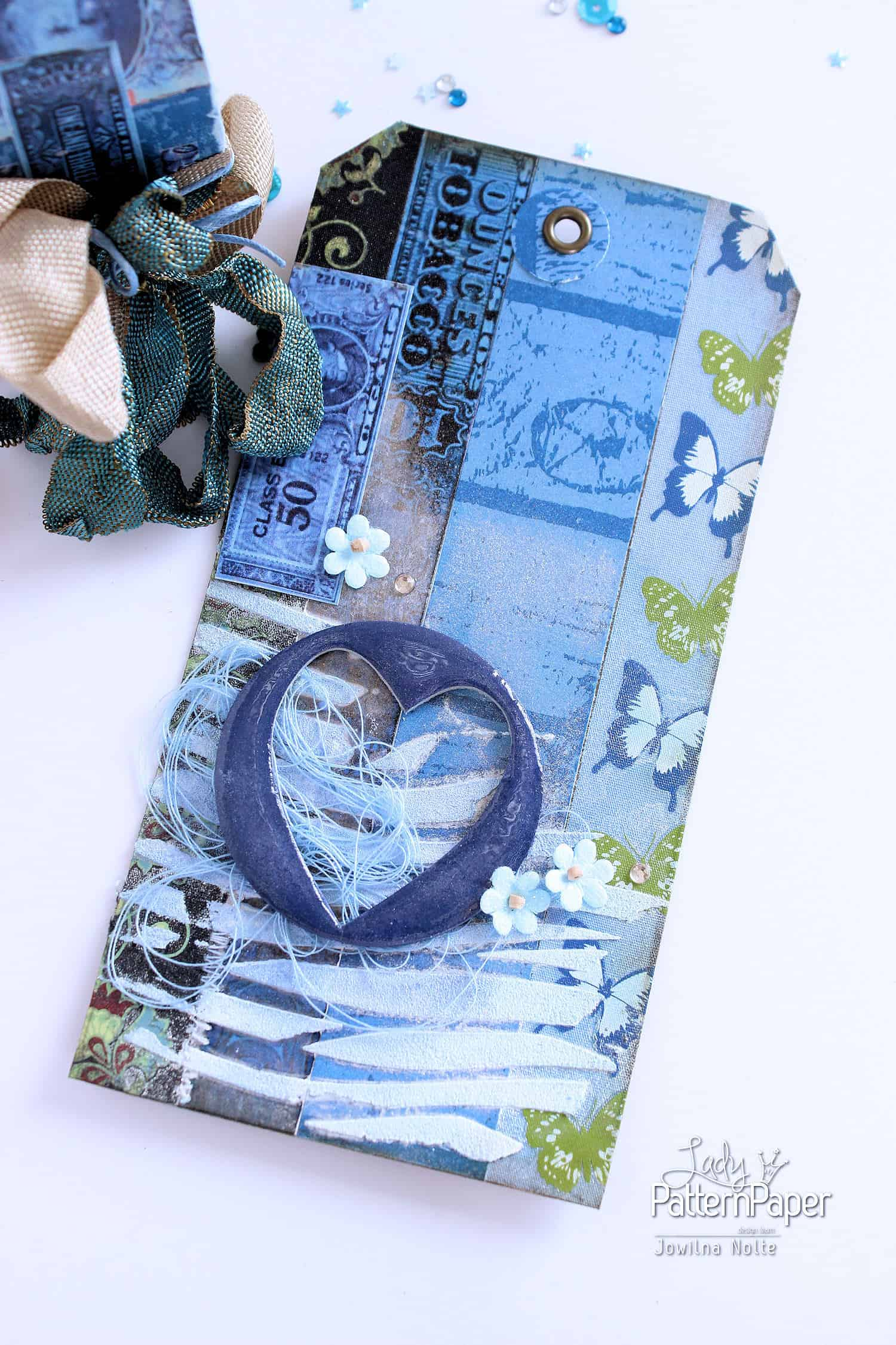Dazzling Blue Paper - Tag