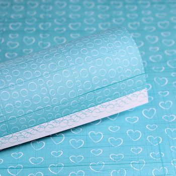 LPPTT0009 - Twinkle Toes - Baby Hearts - Intense Teal