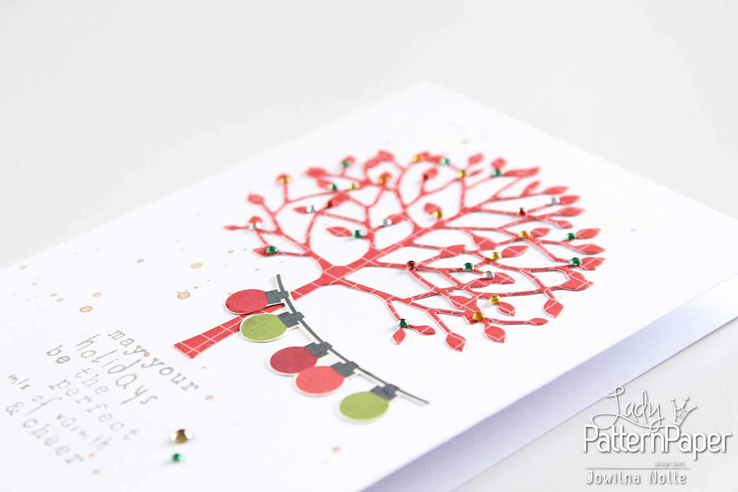 quick christmas cards - lights