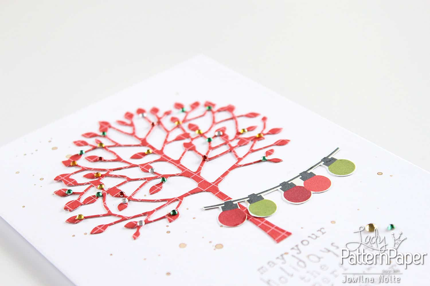 quick christmas cards - tree