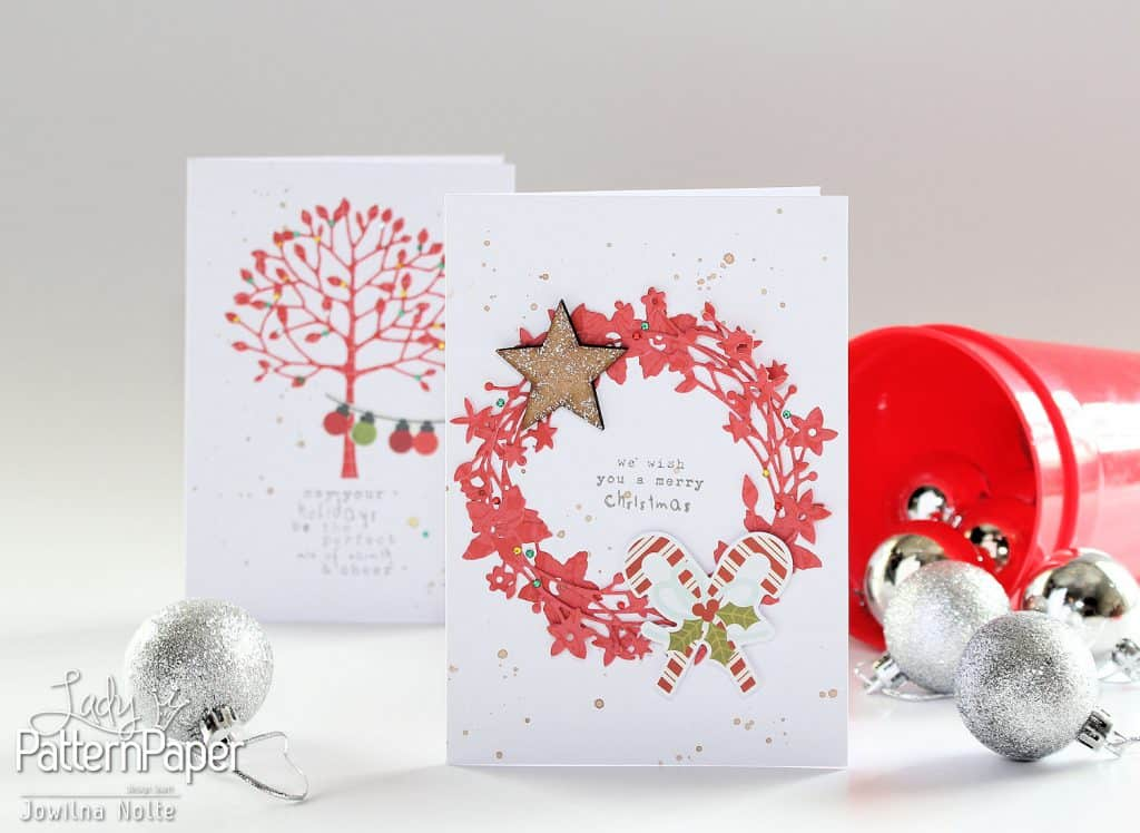 quick christmas cards - with die cuts
