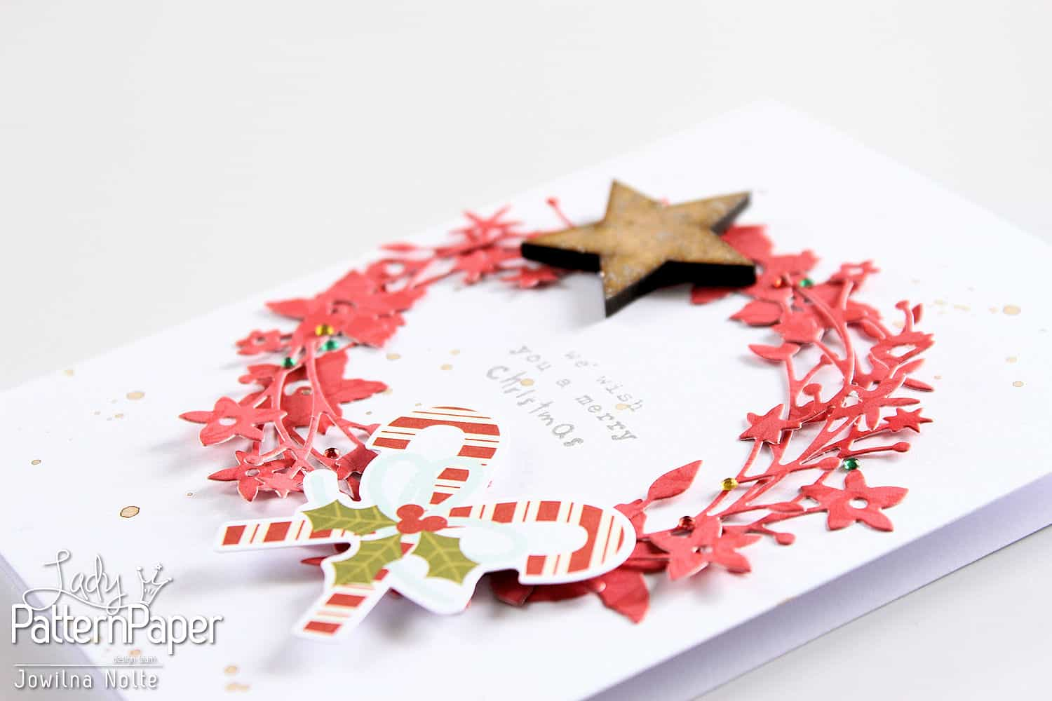 quick christmas cards - wreath