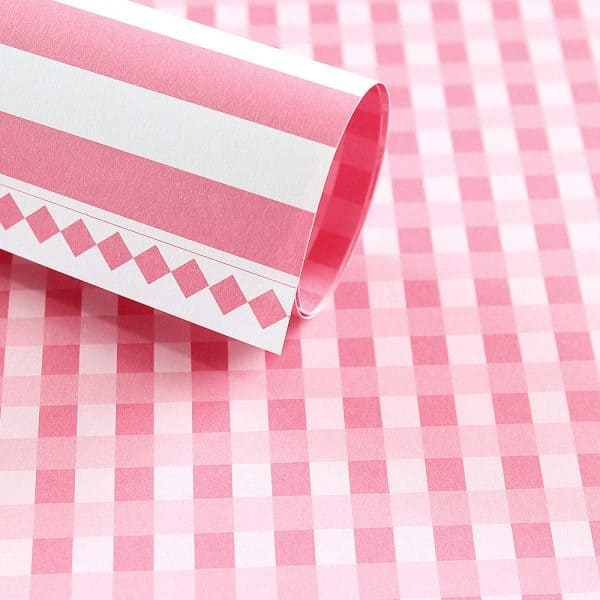 LPP0011 - Basic Essentials - Gingham - Pink Mary