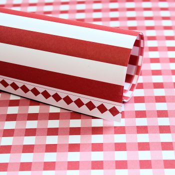 LPP0037 - Basic Essentials - Gingham - Red Pop