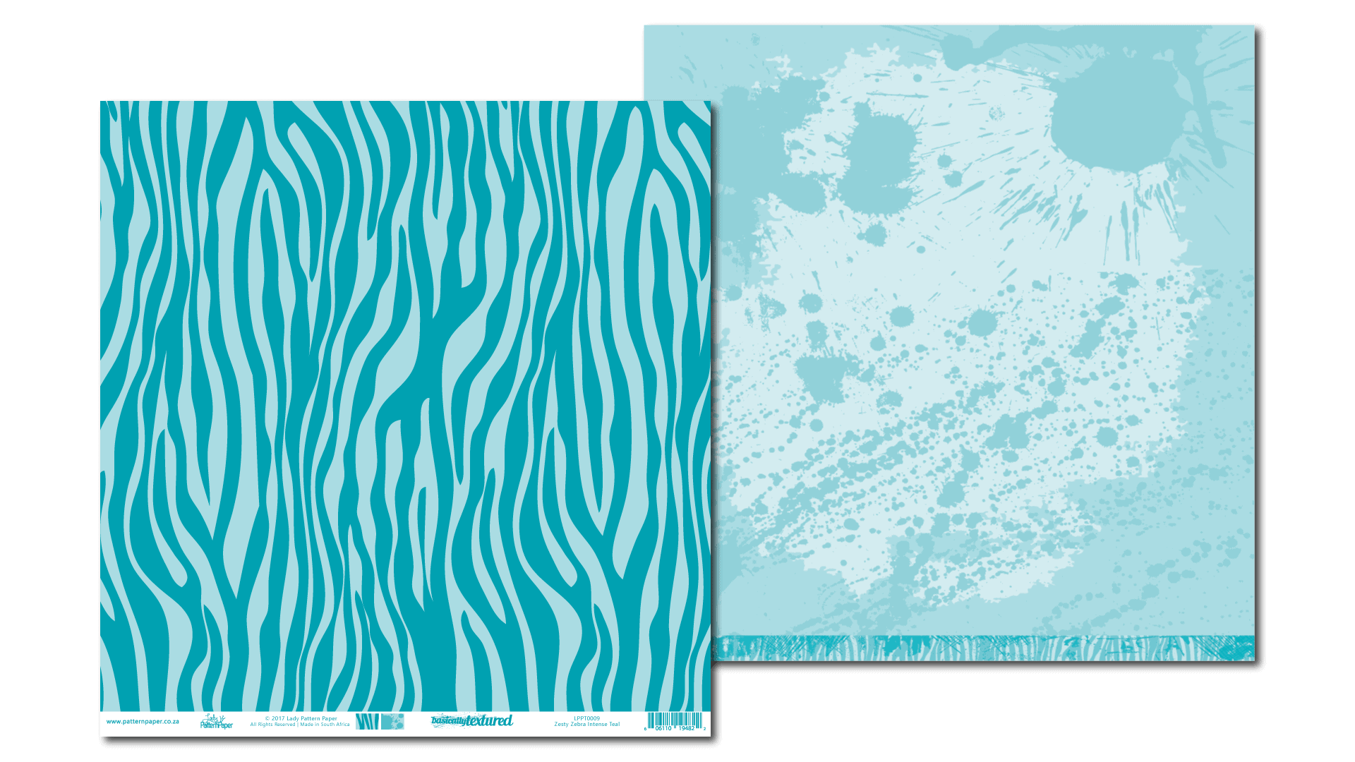 LPPT0009 - Basically Textured - Zesty Zebra - Intense Teal