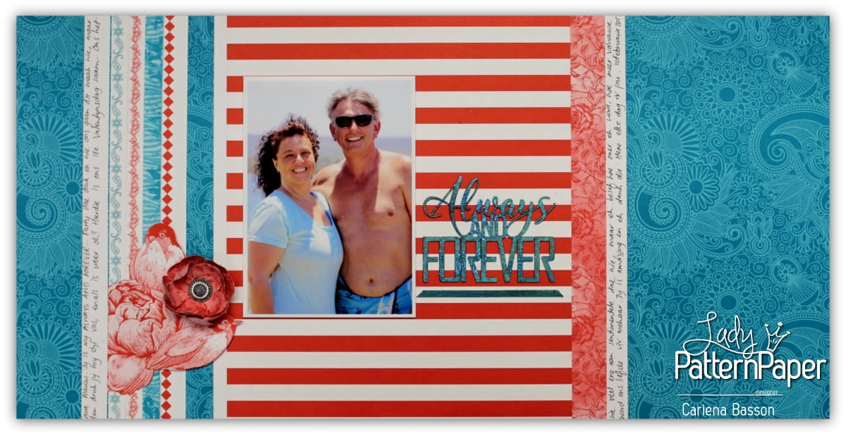 Ooh La Limited Red & Teal Always and Forever Layout