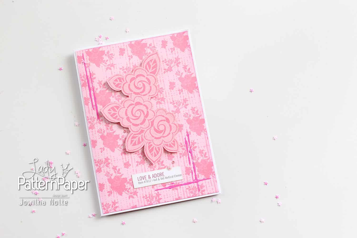 Pretty Pink Card - Love and Adore