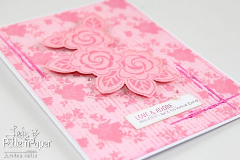 Pretty Pink Card - Lovebirds