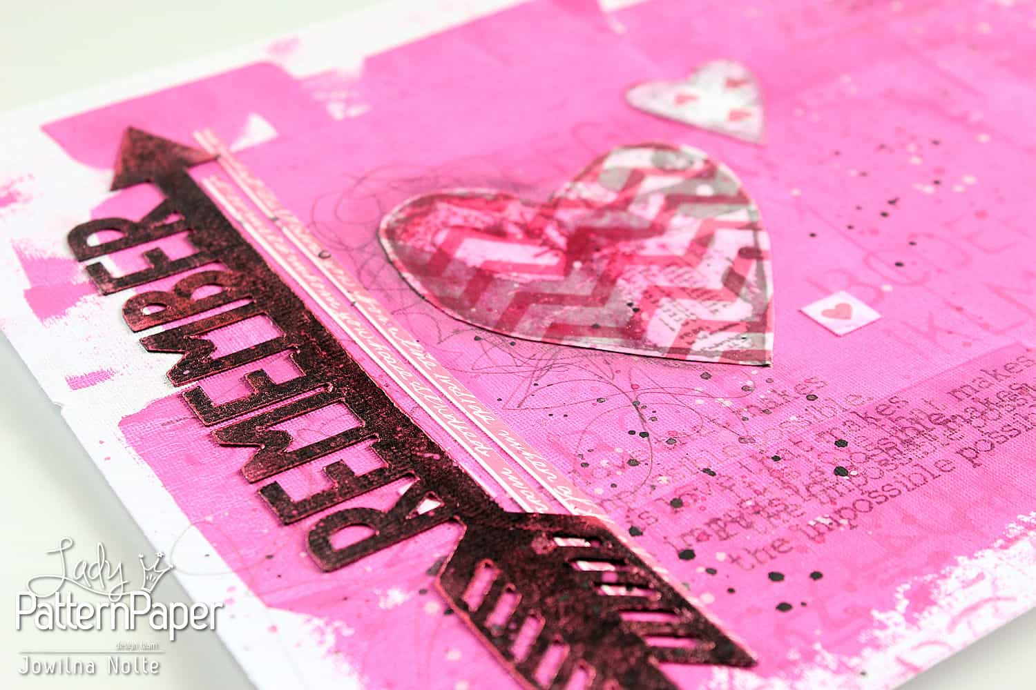 Art Journal Love Page - Remember