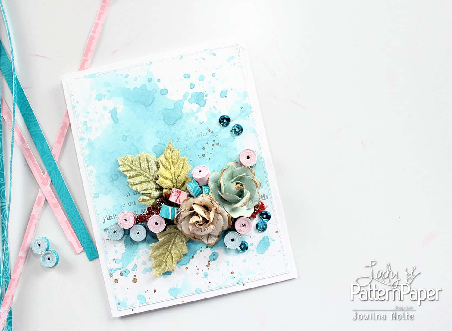 Rolled Paper Beads - Card