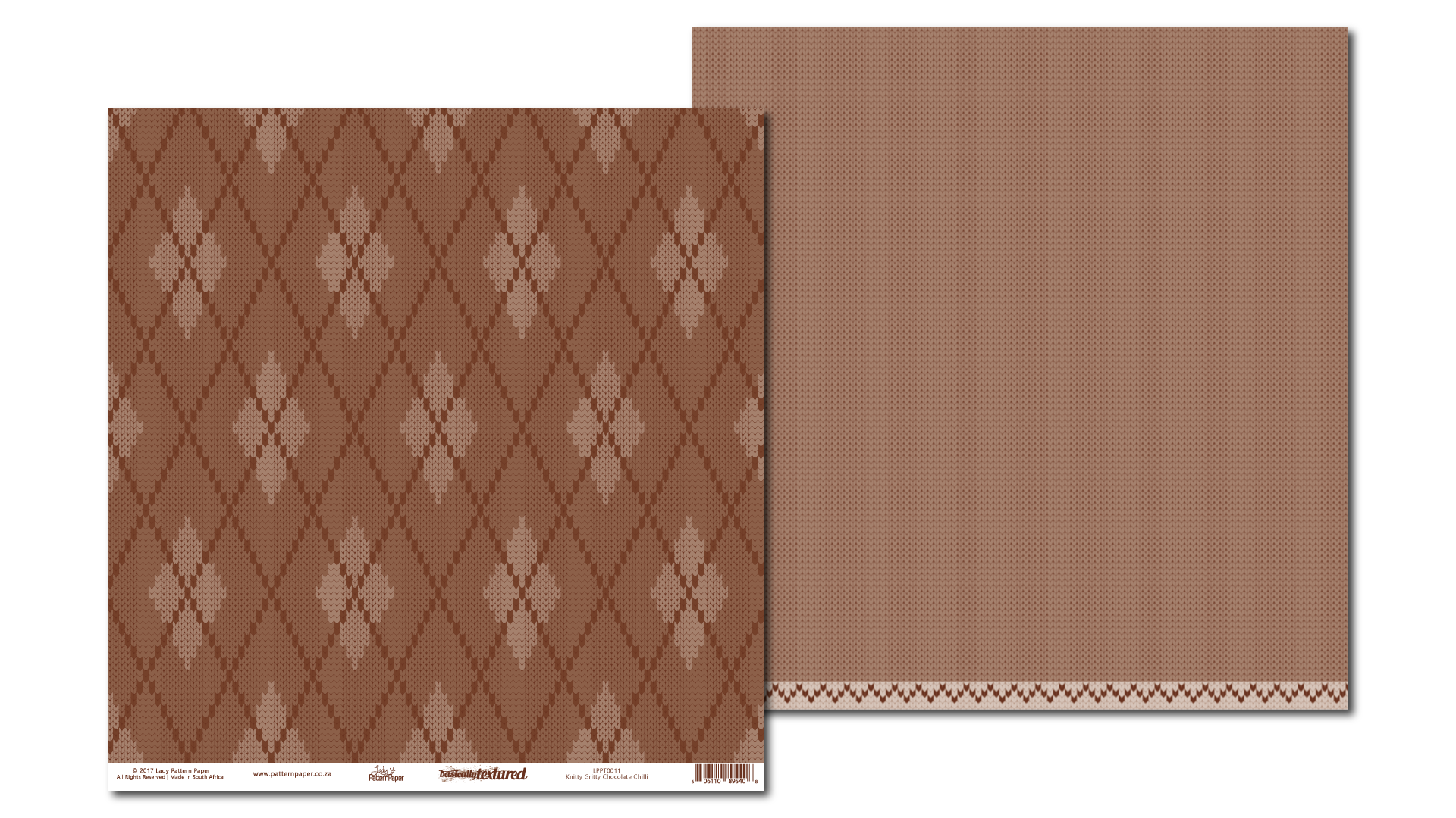 LPPT0011 - Basically Textured - Knitty Grity - Chocolate Chilli