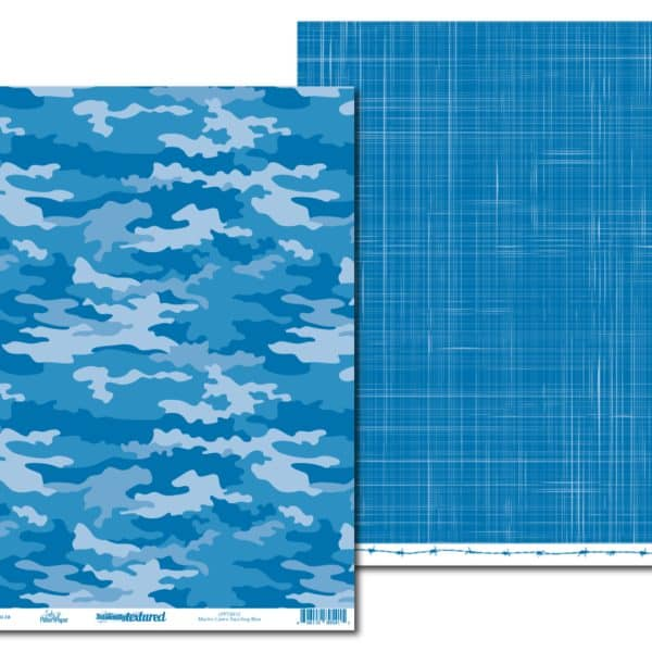 LPPT0012 - Basically Textured - Macho Camo - Dazzling Blue