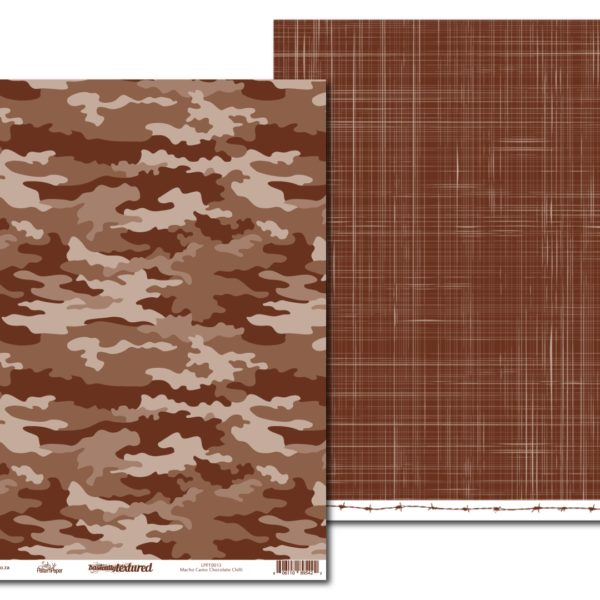 LPPT0013 - Basically Textured - Macho Camo - Chocolate Chilli