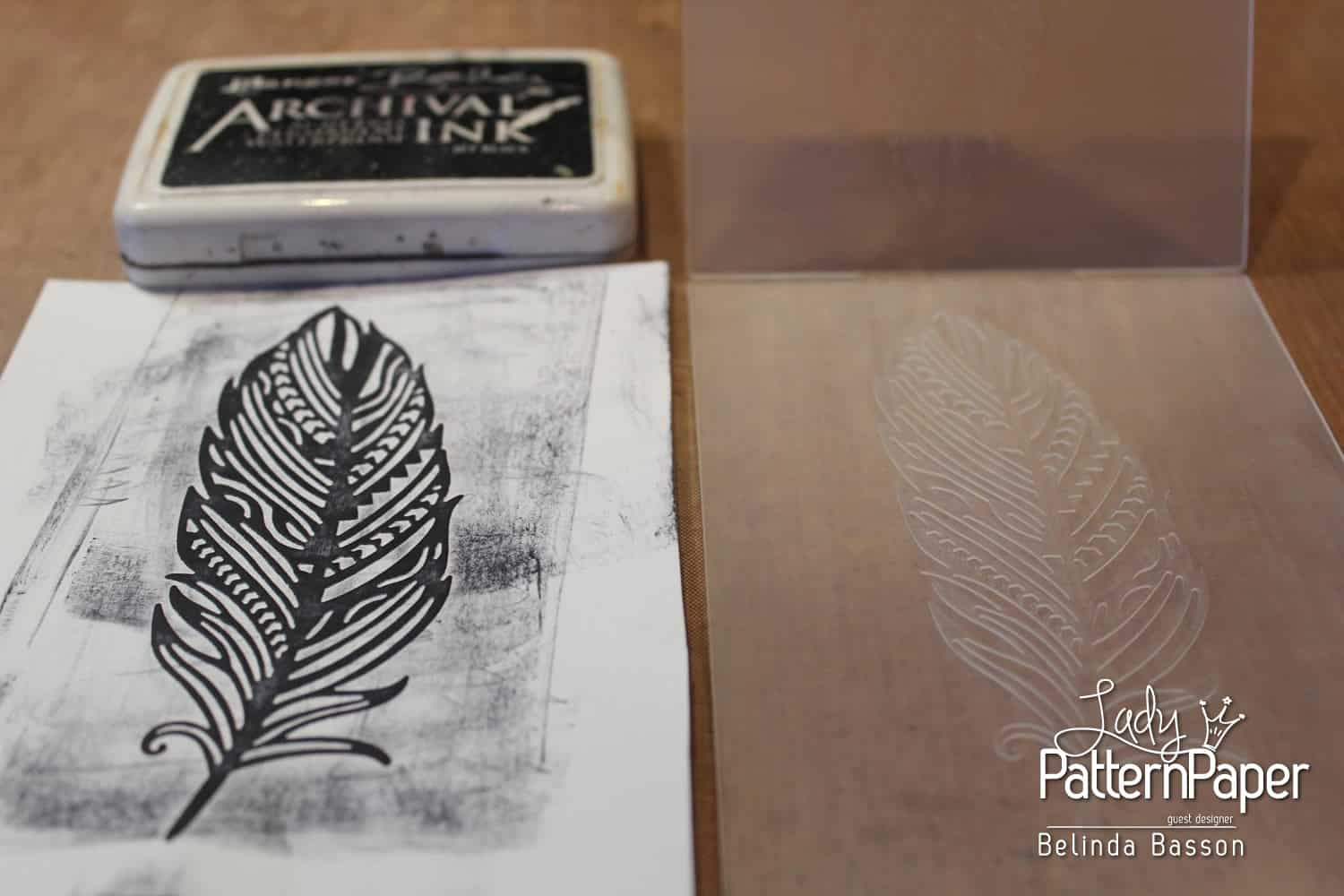 Matric Dance Layout - Embossed Feather