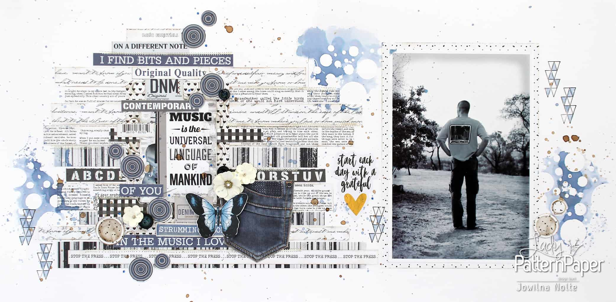 Paper Scraps - Black and White Layout