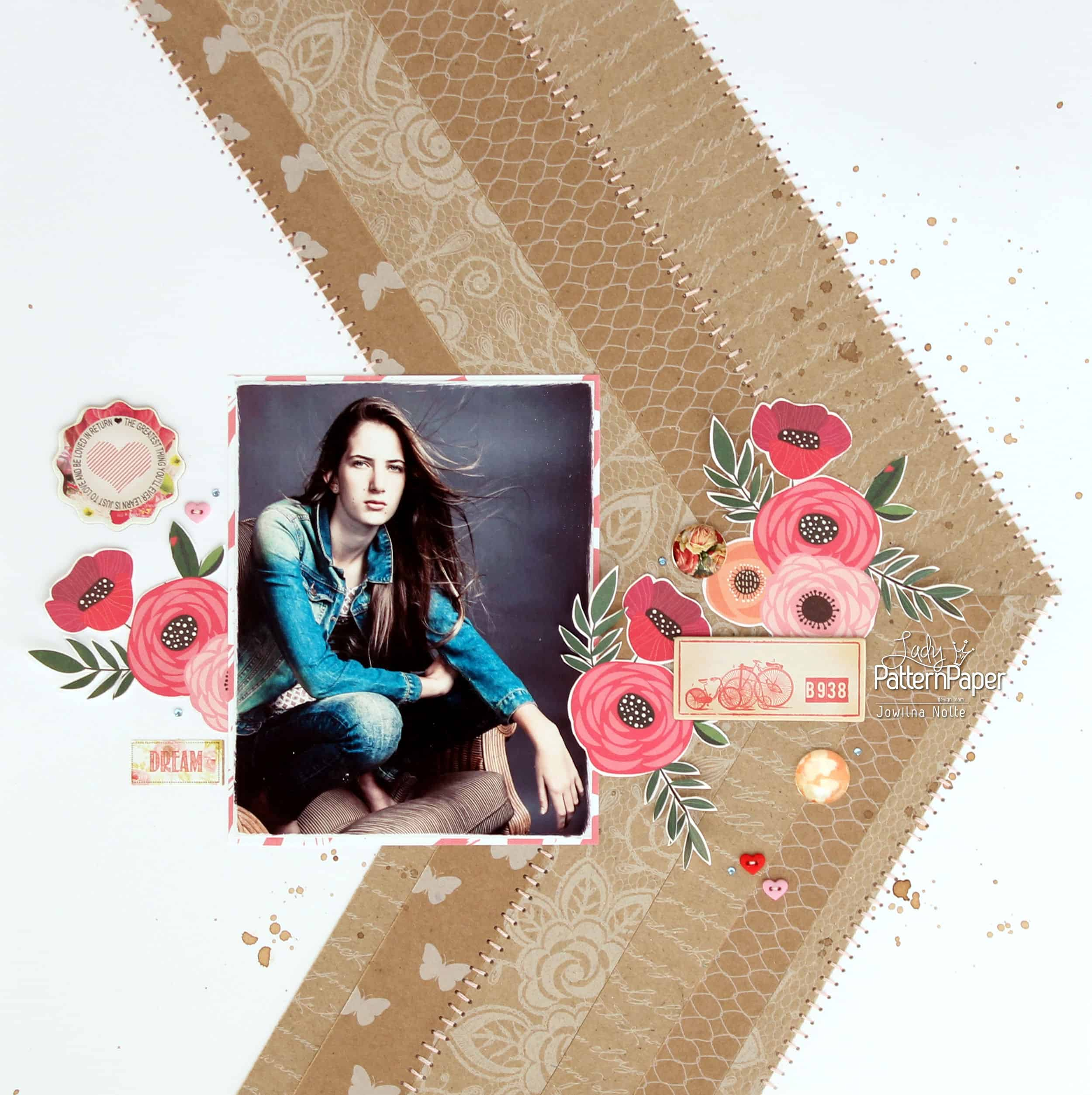 Kraft Essentials Layout - Chevron Inspired