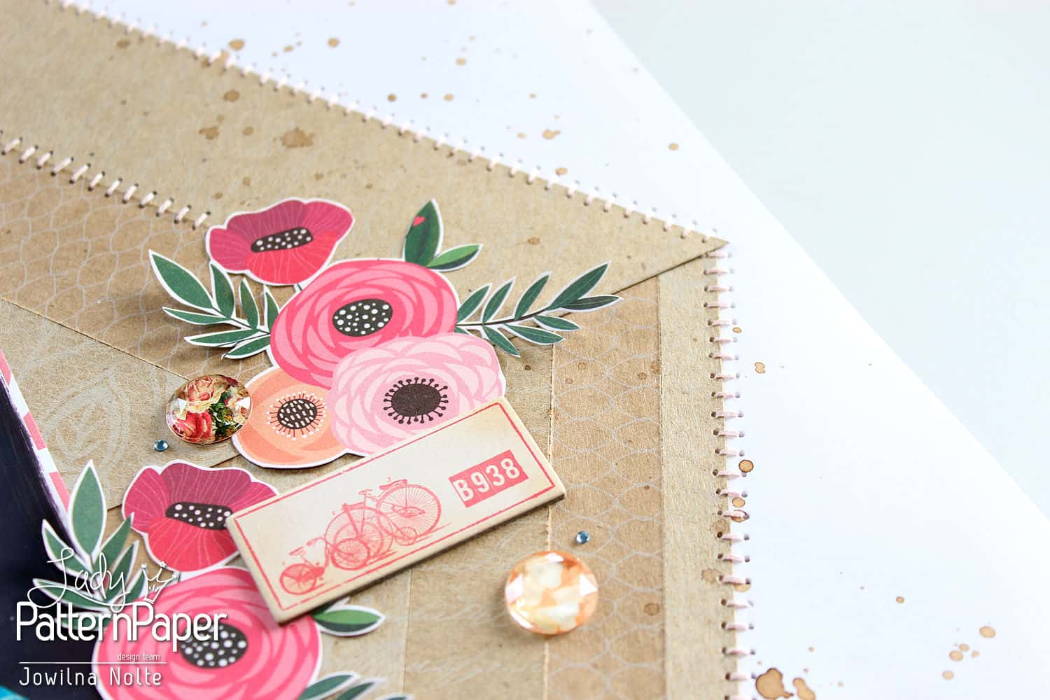 Kraft Essentials Layout - Flowers