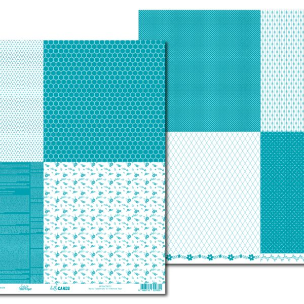 LPPHC0012 - hello CARDS - Basic Essentials V3 - Intense Teal