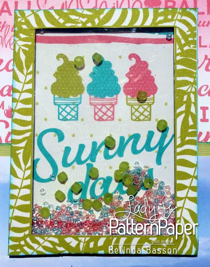 ALMOST Summer Layout - Shaker Box