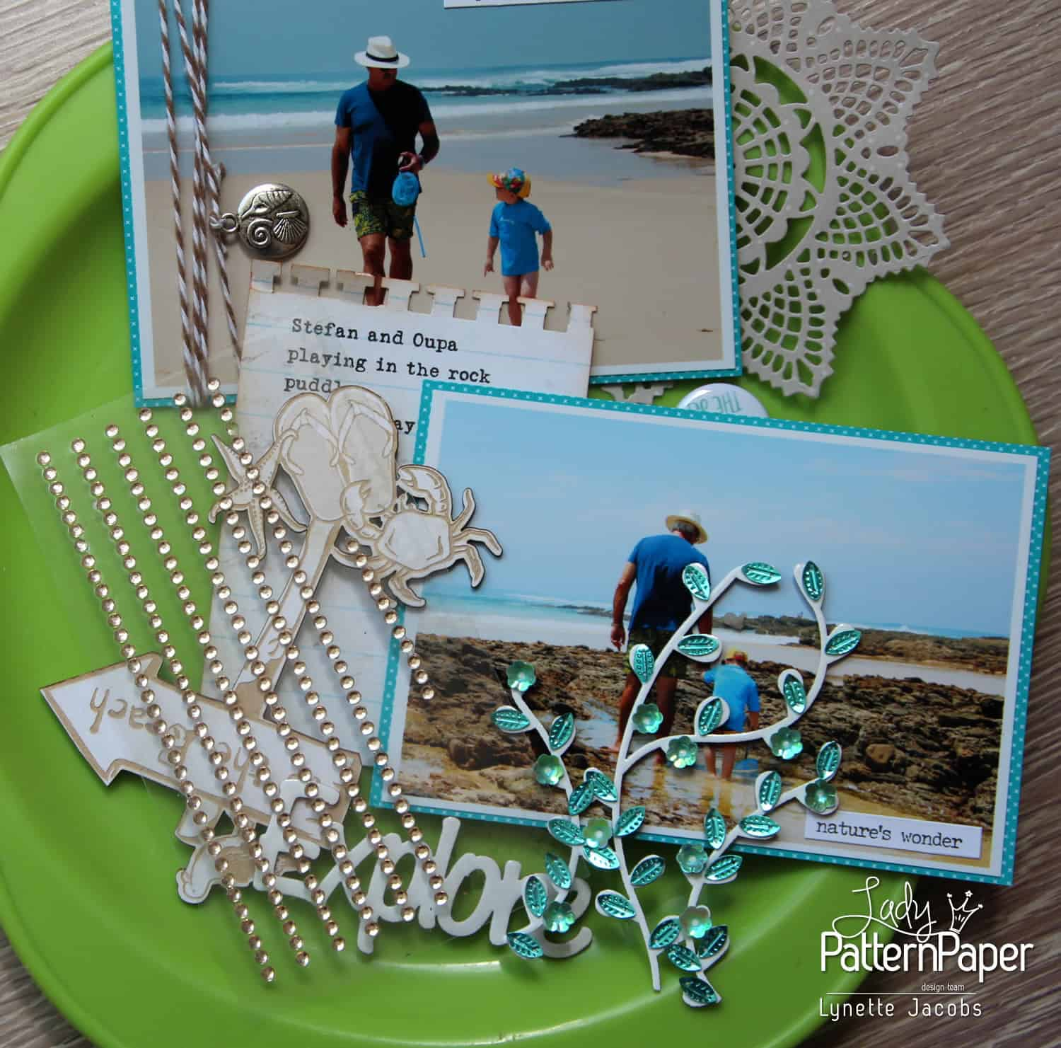 Good times at the beach - Embellishments