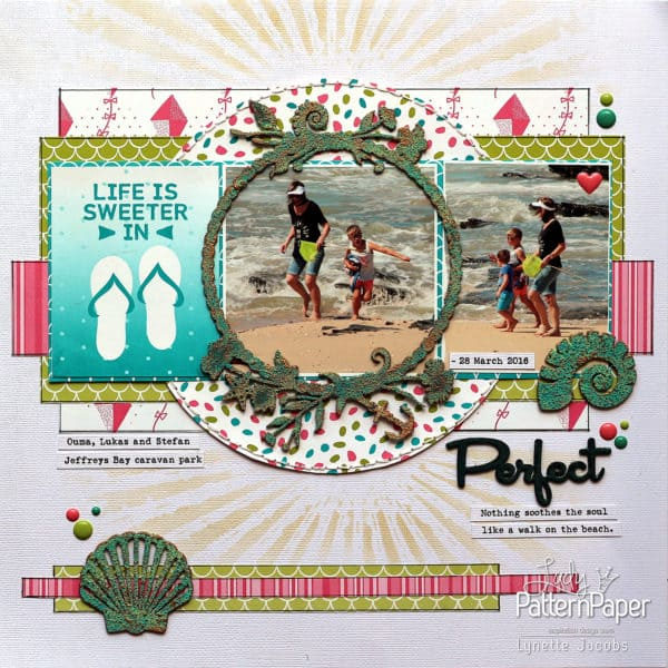 Life Is Sweeter in Flip Flops Perfect Layout
