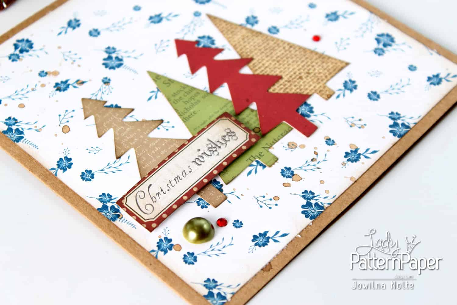 Very Merry Dazzling Blue Granny Christmas Card