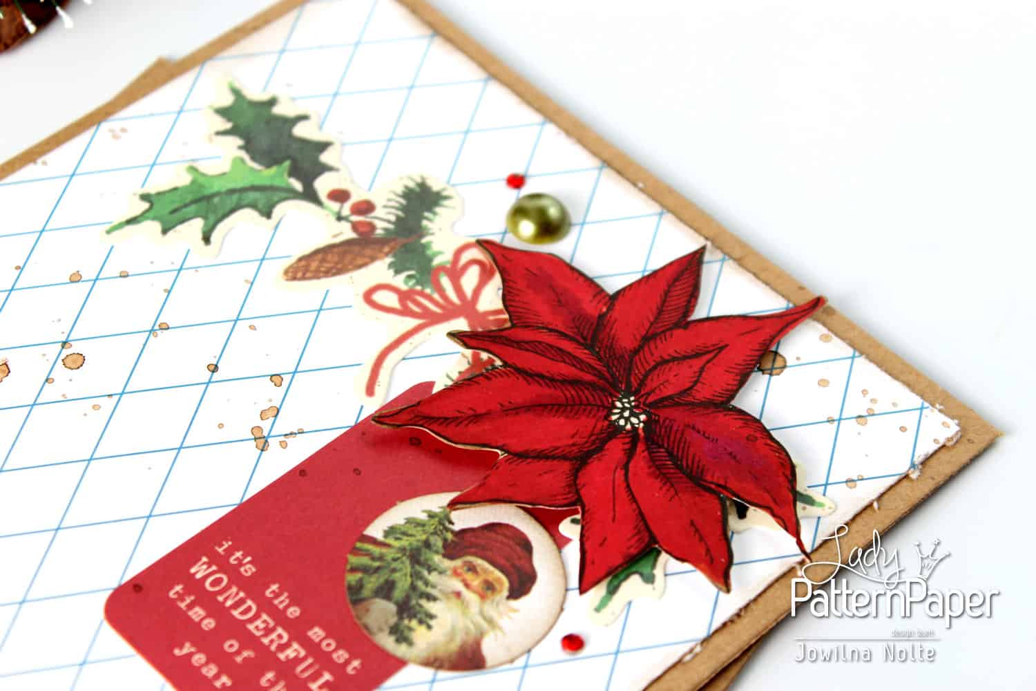 Very Merry Dazzling Blue Christmas Card