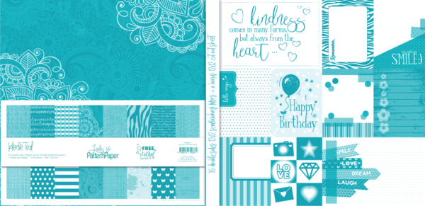LPPB0014 - Intense Teal Paper Pack V1