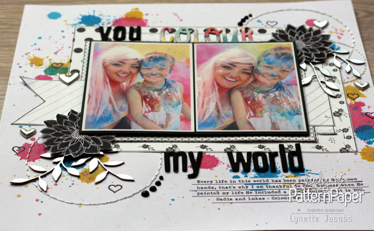 Lynette's Silver Black and White Layout