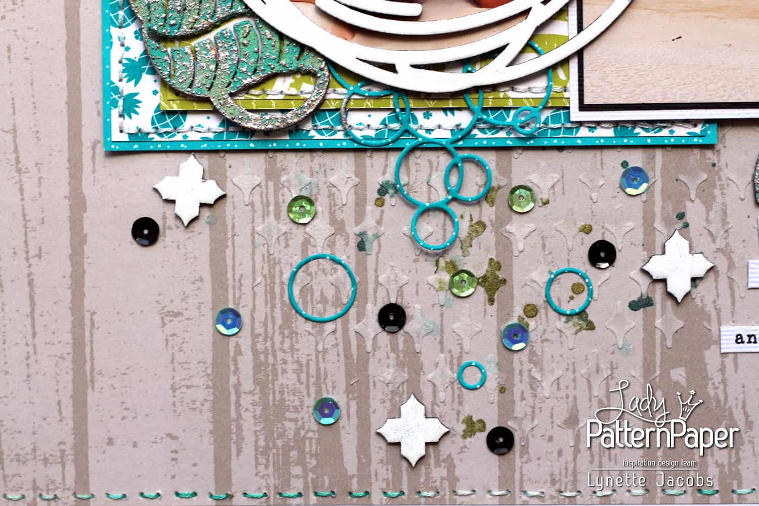Tan Lines and Joy Layout - Ringlets Die Cuts