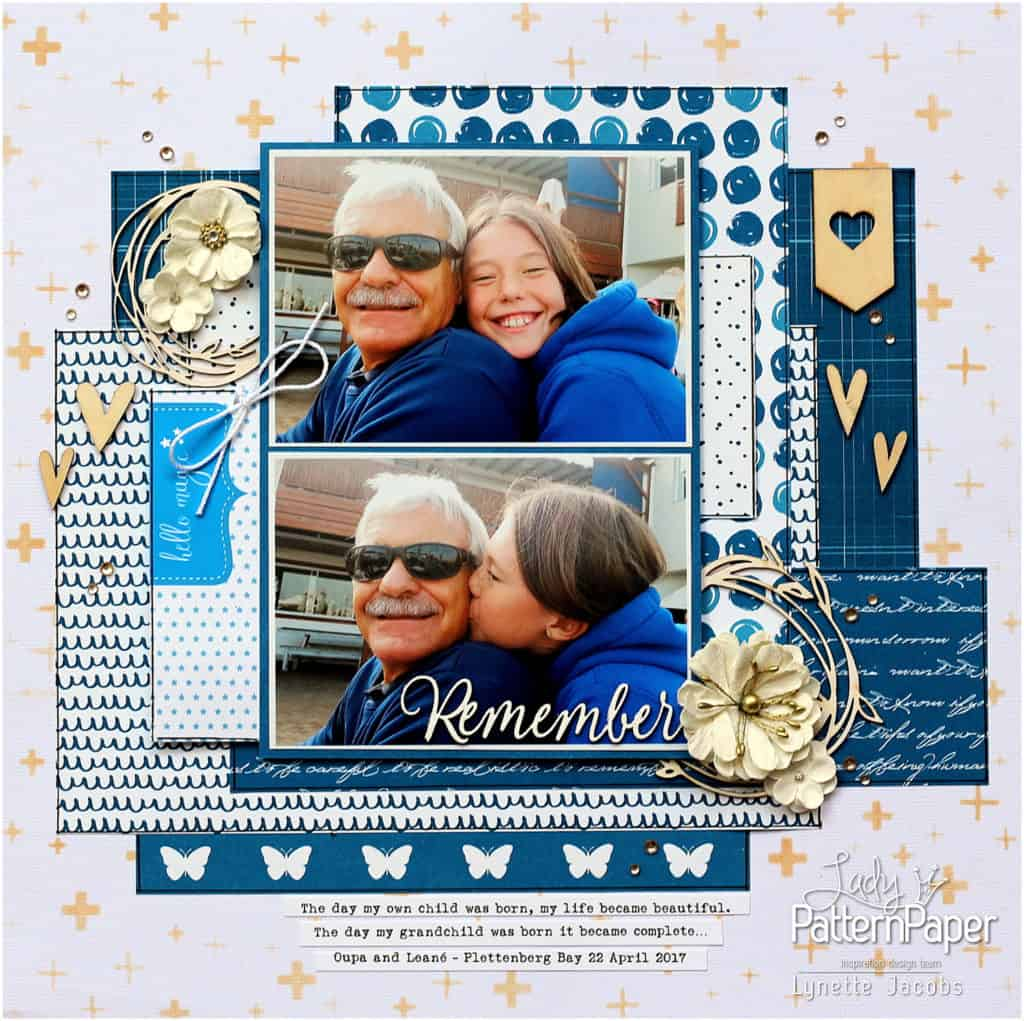 Lynette's Beautiful Dazzling Blue Layout