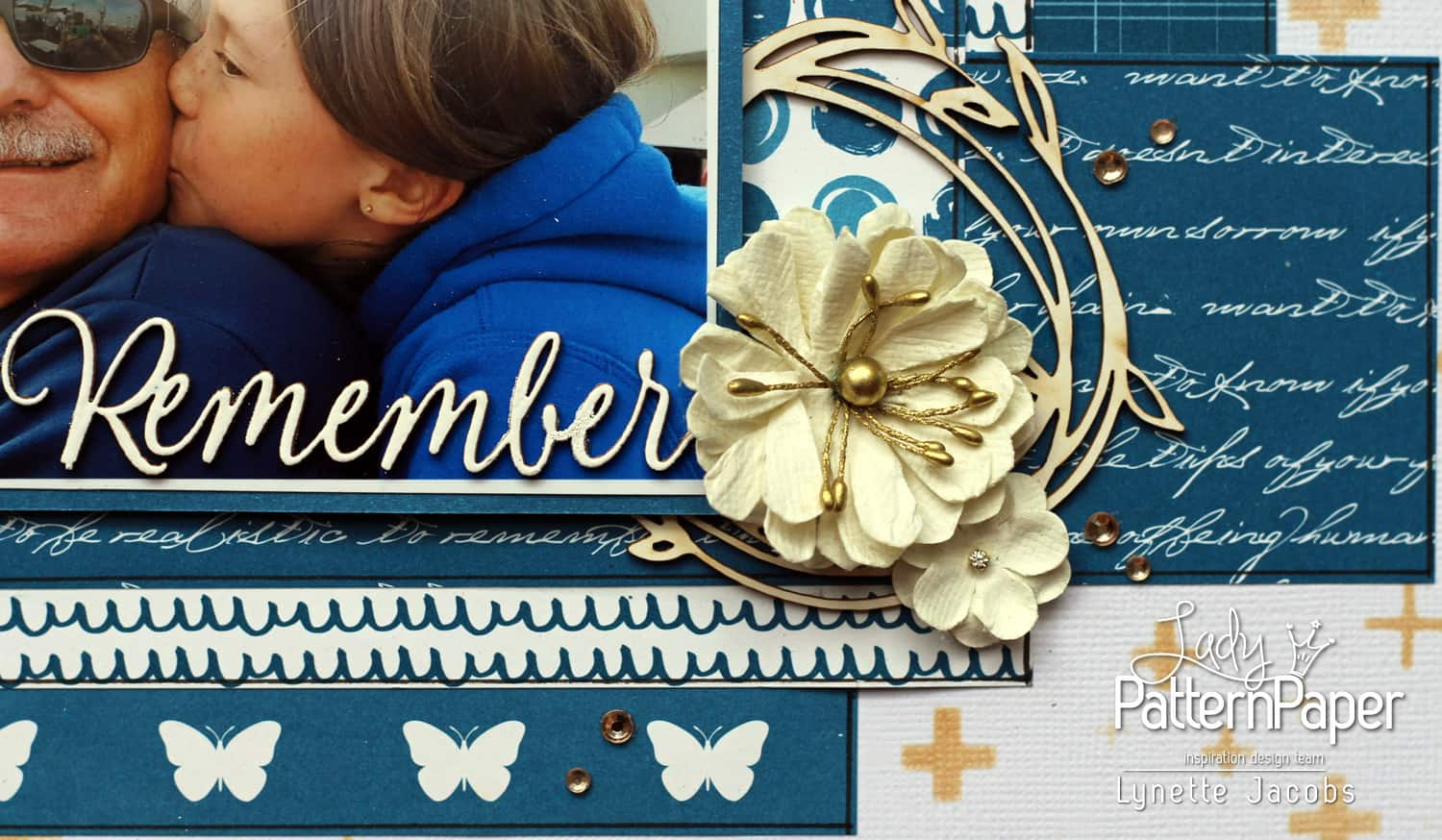 Lynettes Dazzling Blue Layout - Remember