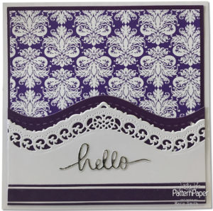 Purple Affair - Marie Smith - hello CARDS Damask