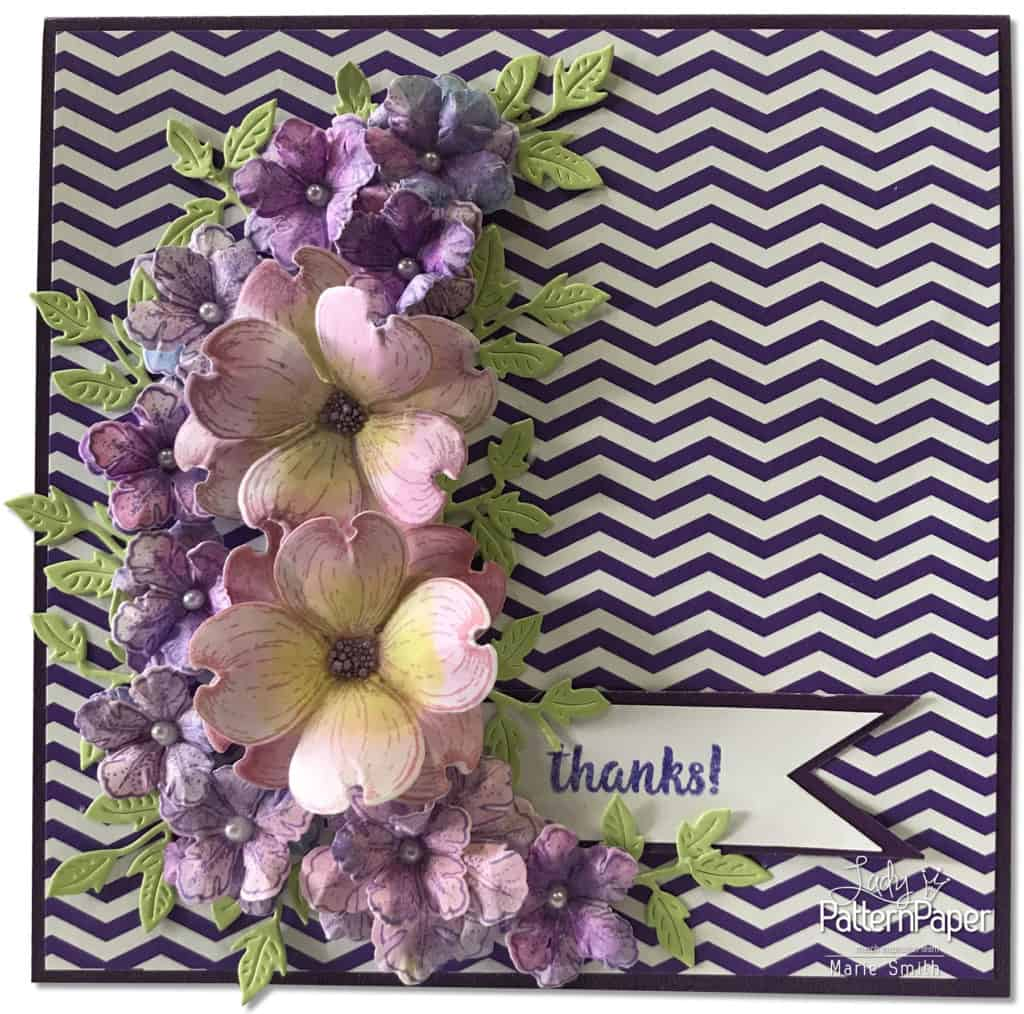 Purple Affair - Marie Smith - hello CARDS Chevron