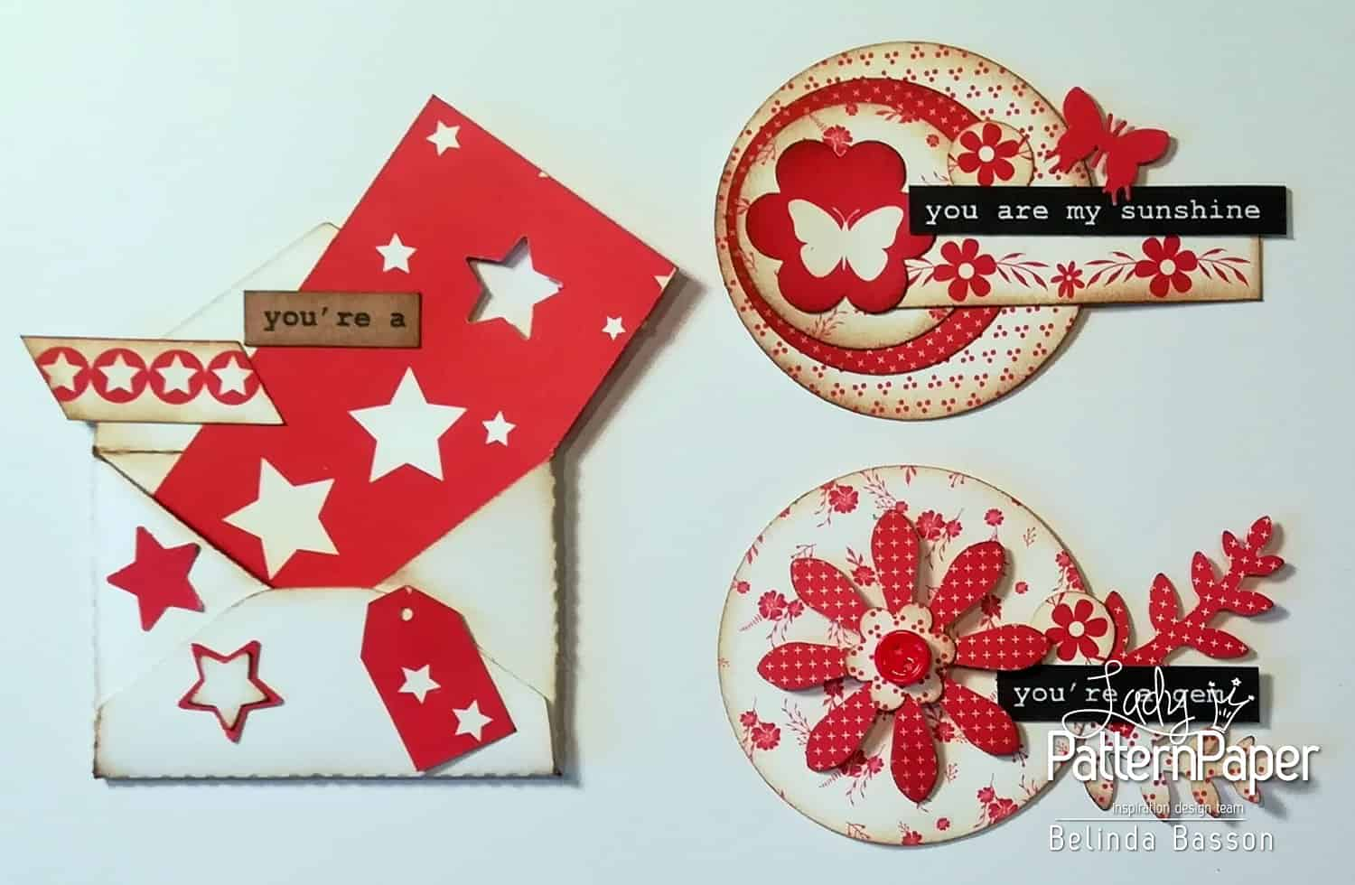 Love Letters Layout By Belinda Basson  Lady Pattern Paper