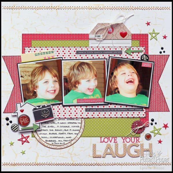 Red Pop Layout - Love Your Laugh