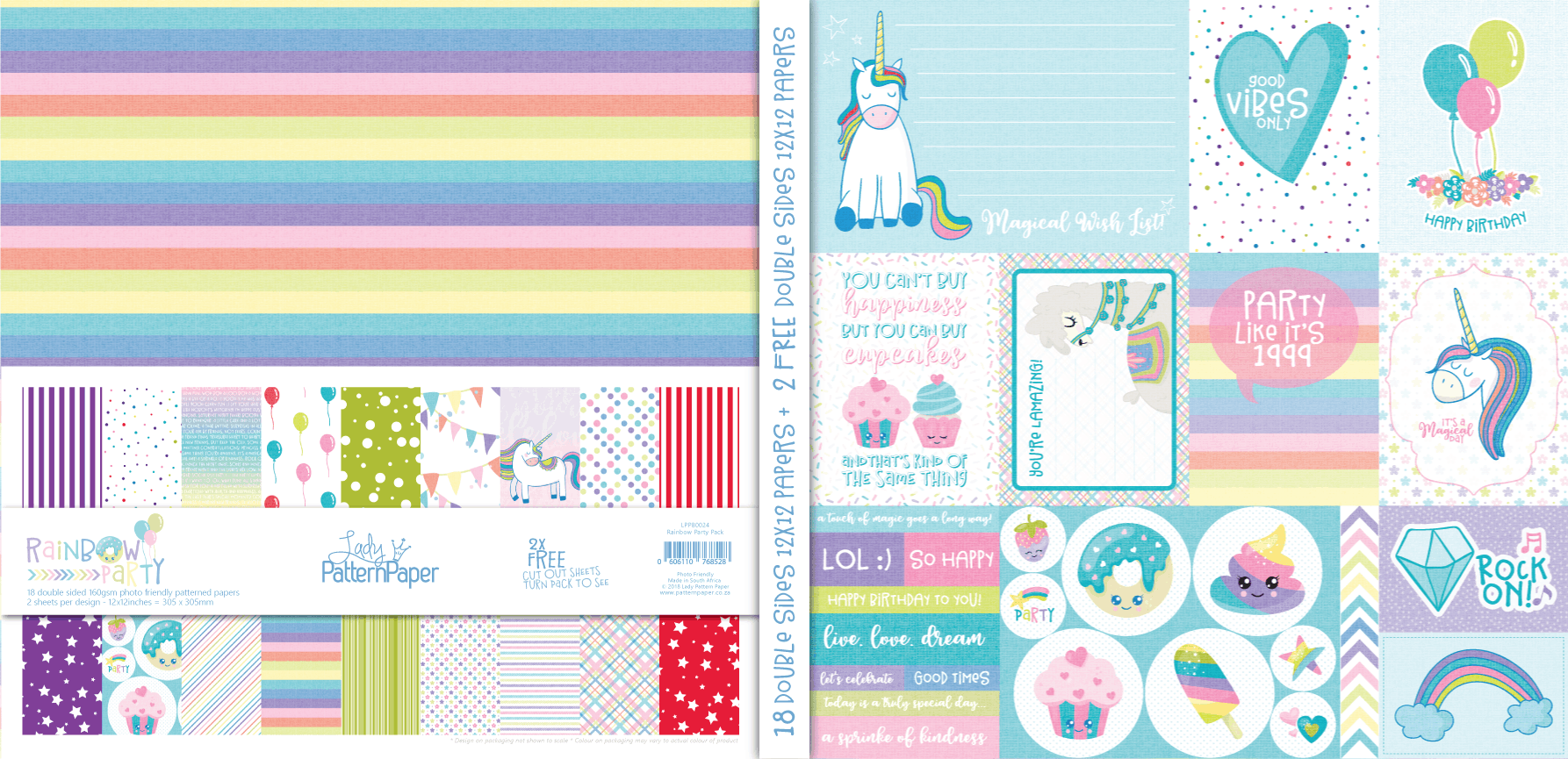 LPPB0024 - Rainbow Party Paper Pack