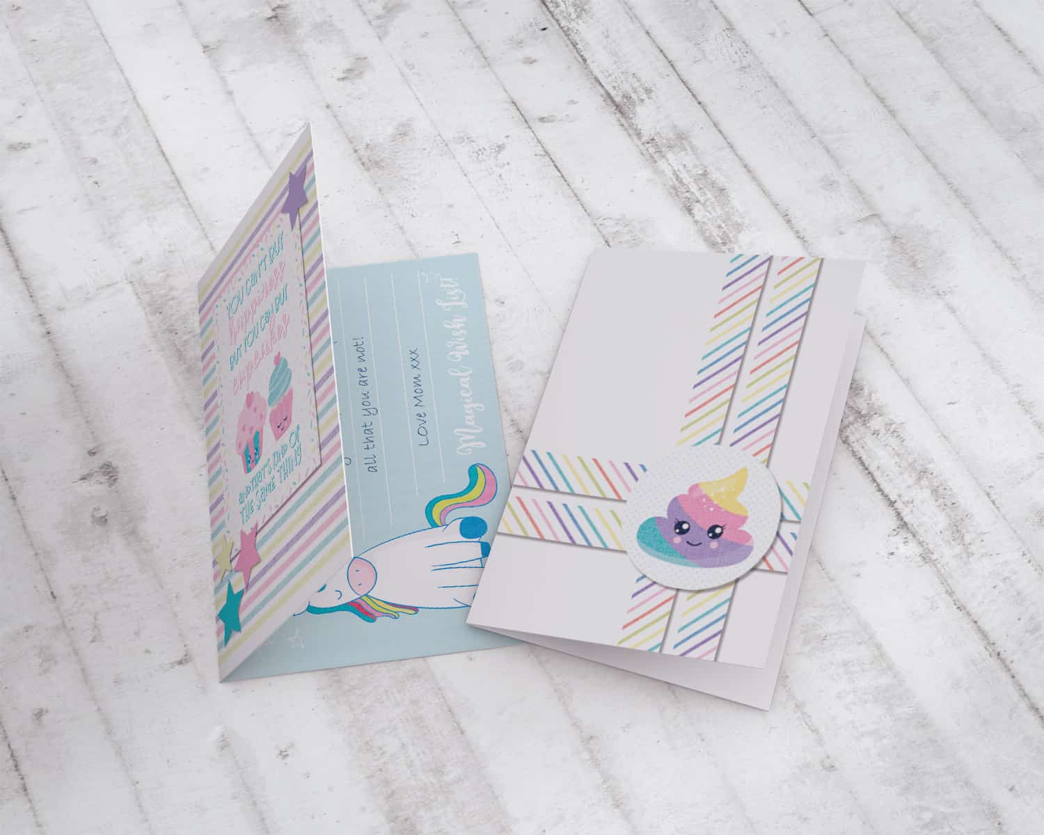 Rainbow Party Card - Magical