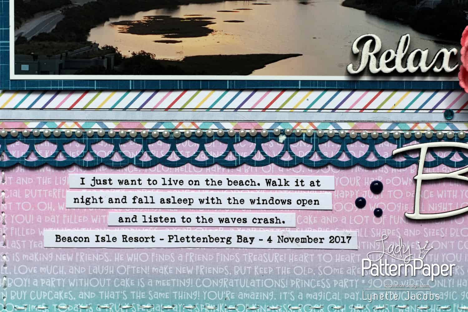 Rainbow Party Breathe Layout - Journaling