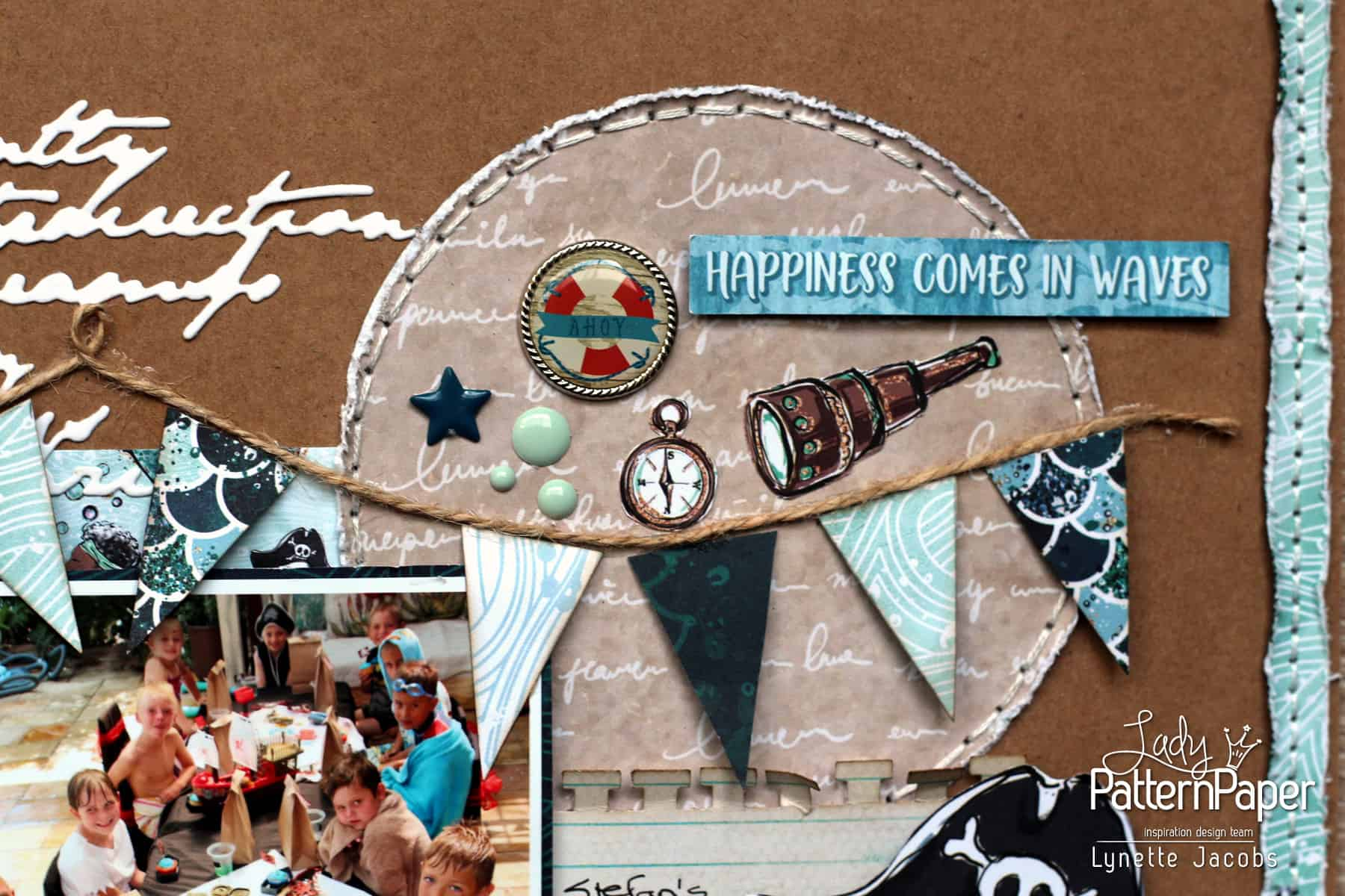 Ahoy Boy Layout - Happiness