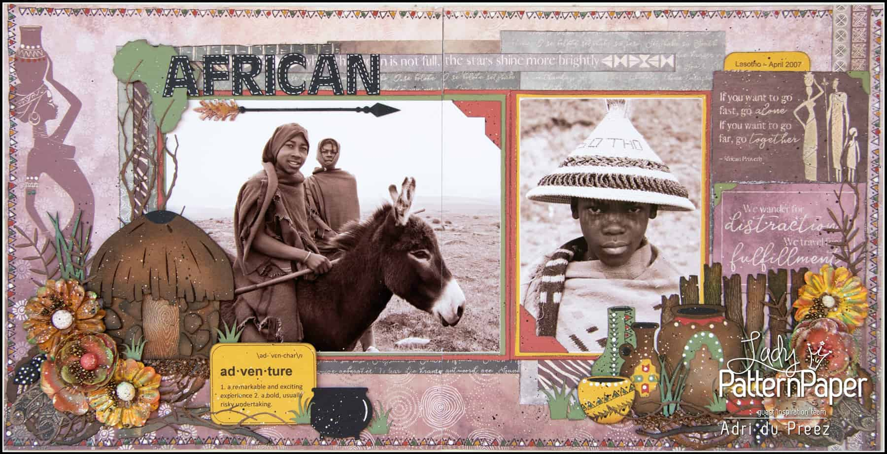 Adri's African Dream - Double Page Layout
