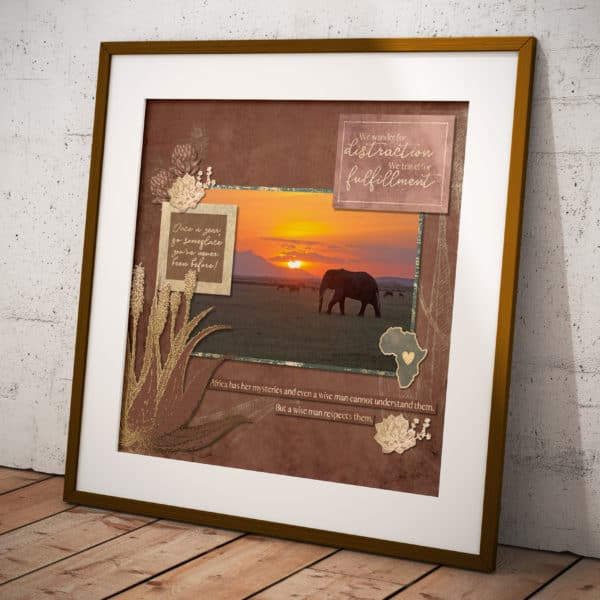 African Dream Layout Framed