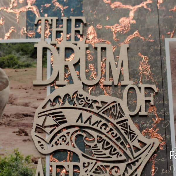 The Drum Of Africa - Gold Foil
