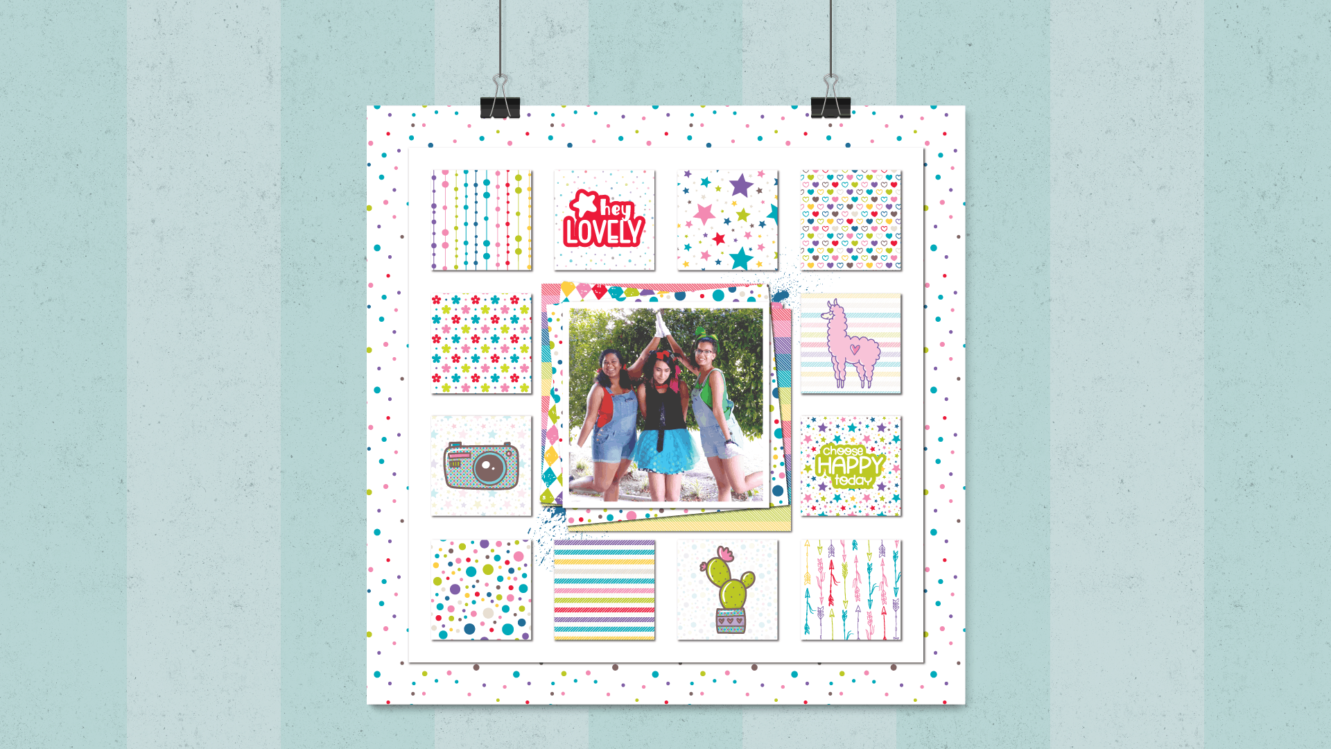 Bon Crayon Layout Hanging